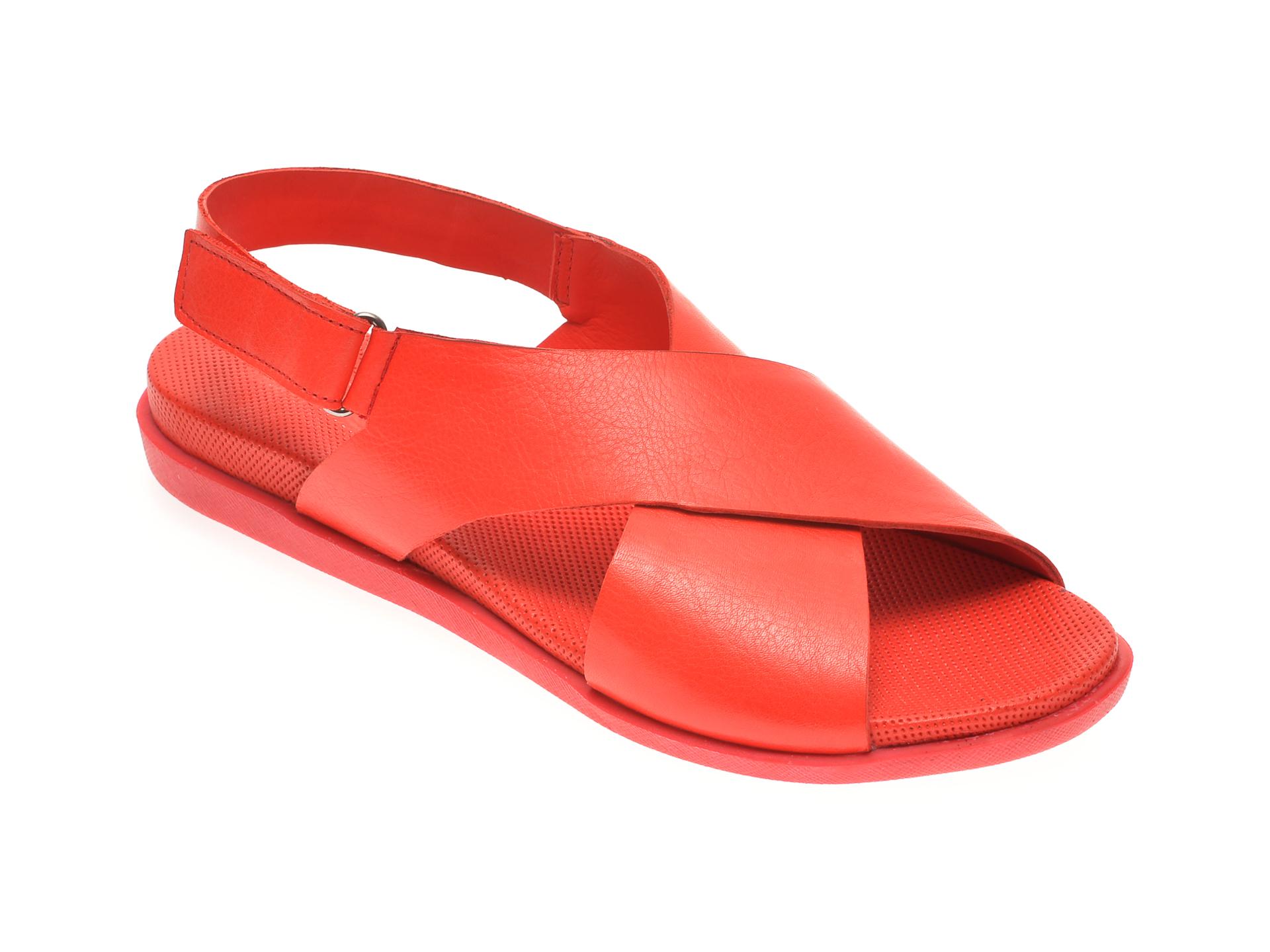 Sandale BABOOS rosii, 1401, din piele naturala imagine