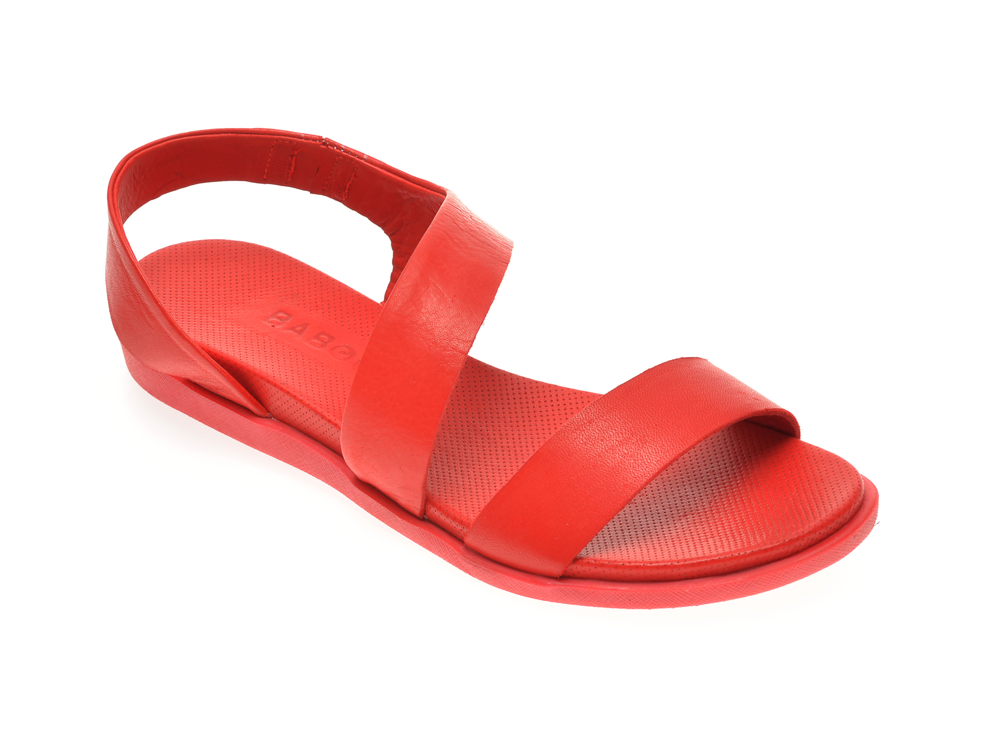 Sandale BABOOS rosii, 1402, din piele naturala imagine
