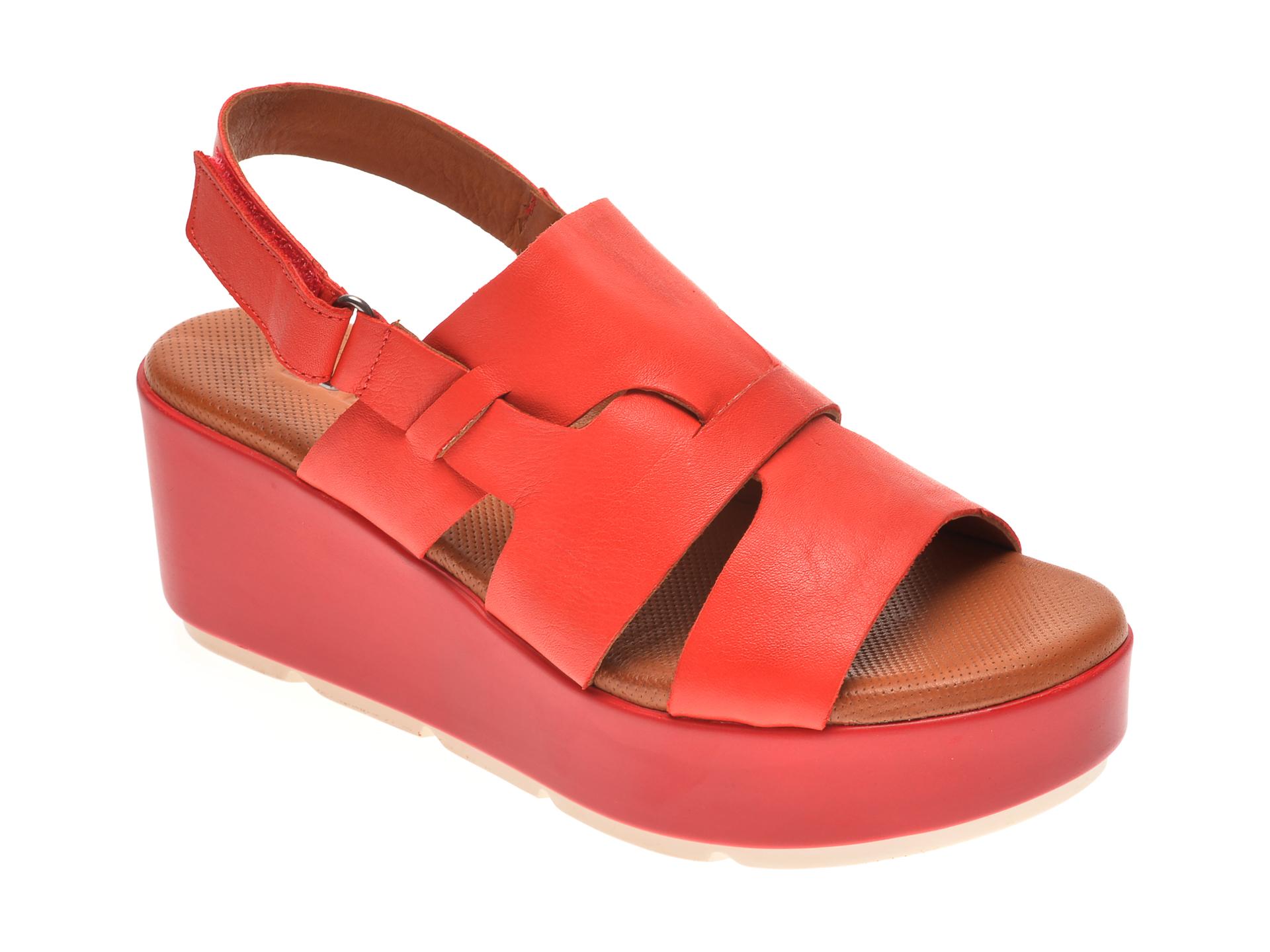 Sandale BABOOS rosii, 2519, din piele naturala imagine