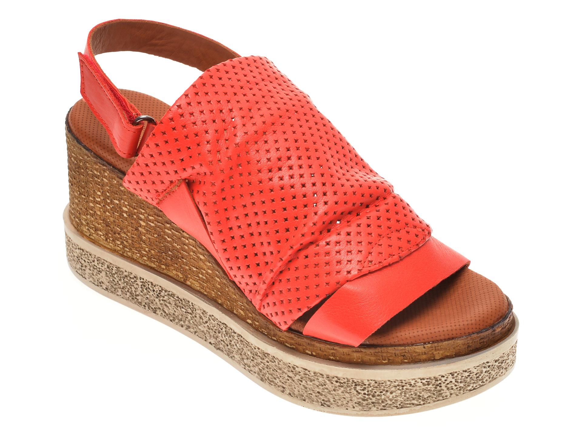 Sandale BABOOS rosii, 852507, din piele naturala imagine
