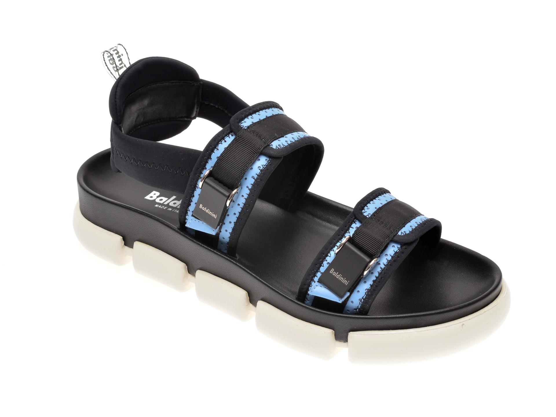 Sandale BALDININI negre, 063500, din material textil imagine