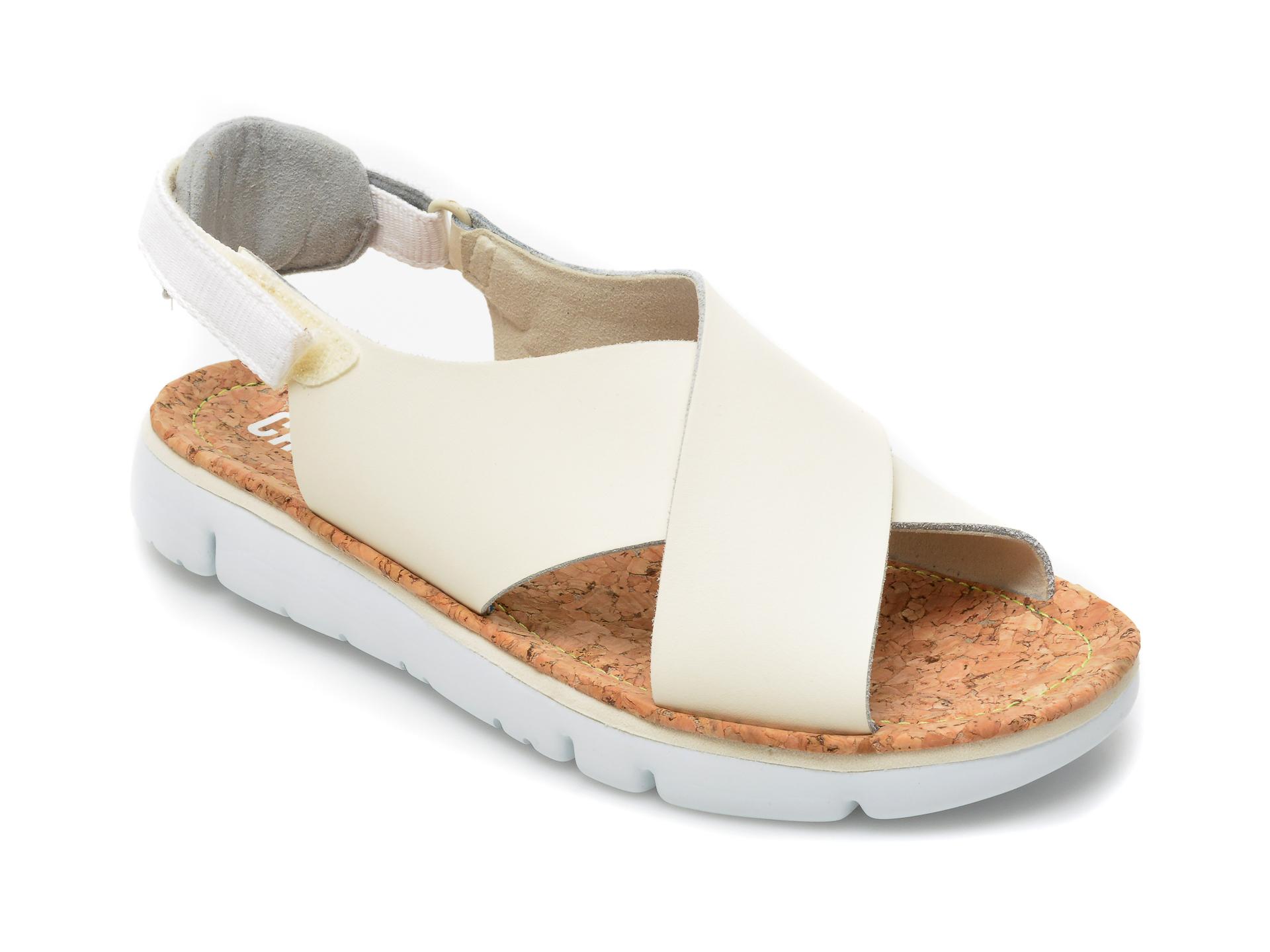 Sandale CAMPER bej, K200157, din piele naturala