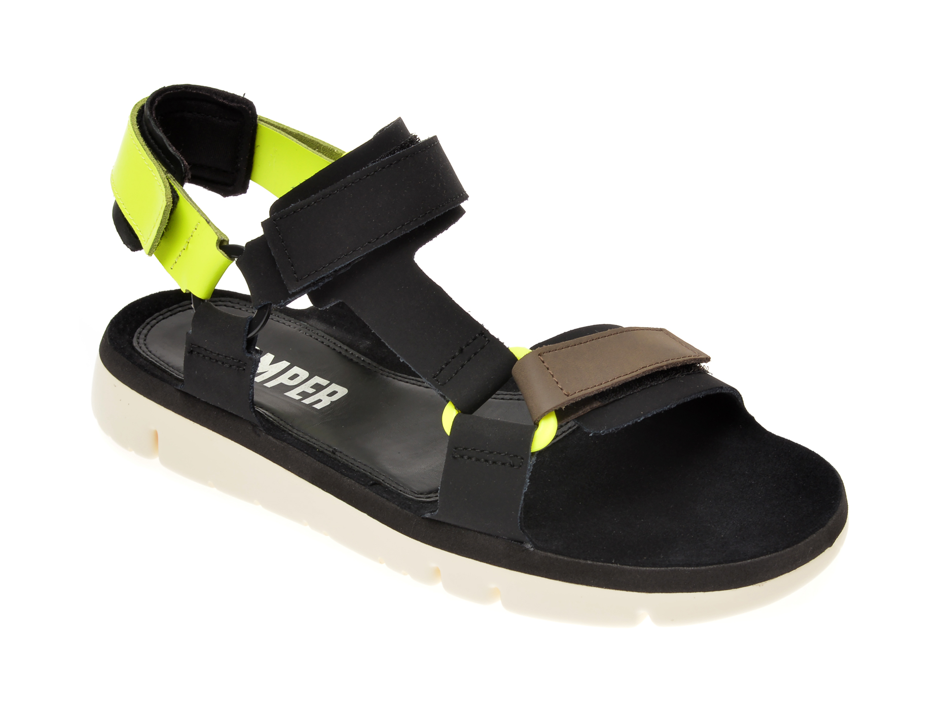 Sandale CAMPER negre, K100416, din piele naturala
