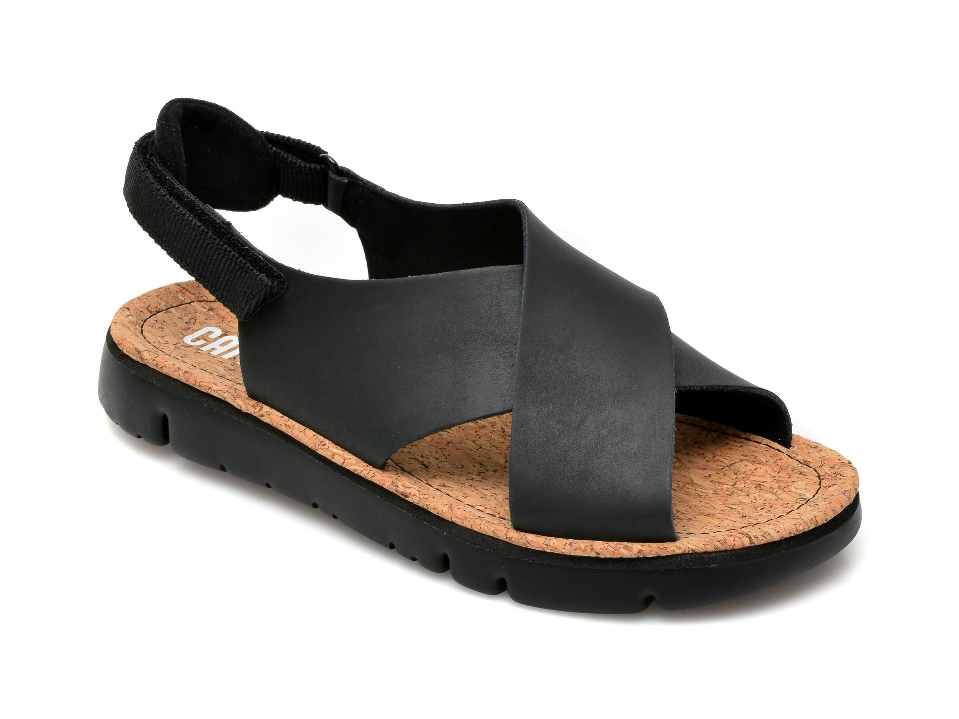 Sandale CAMPER negre, K200157, din piele naturala