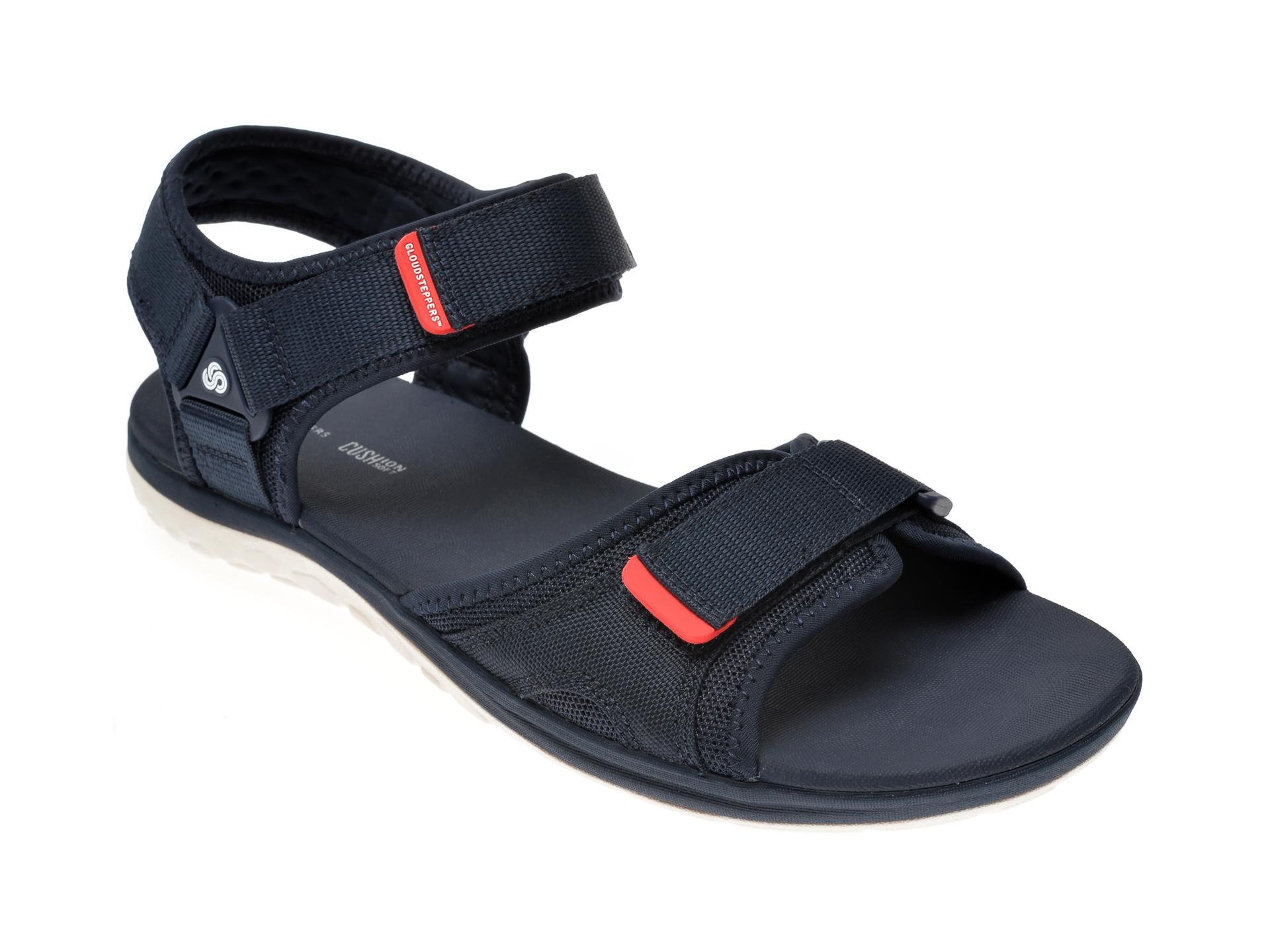 Sandale CLARKS bleumarin, Step Beat Sun, din material textil