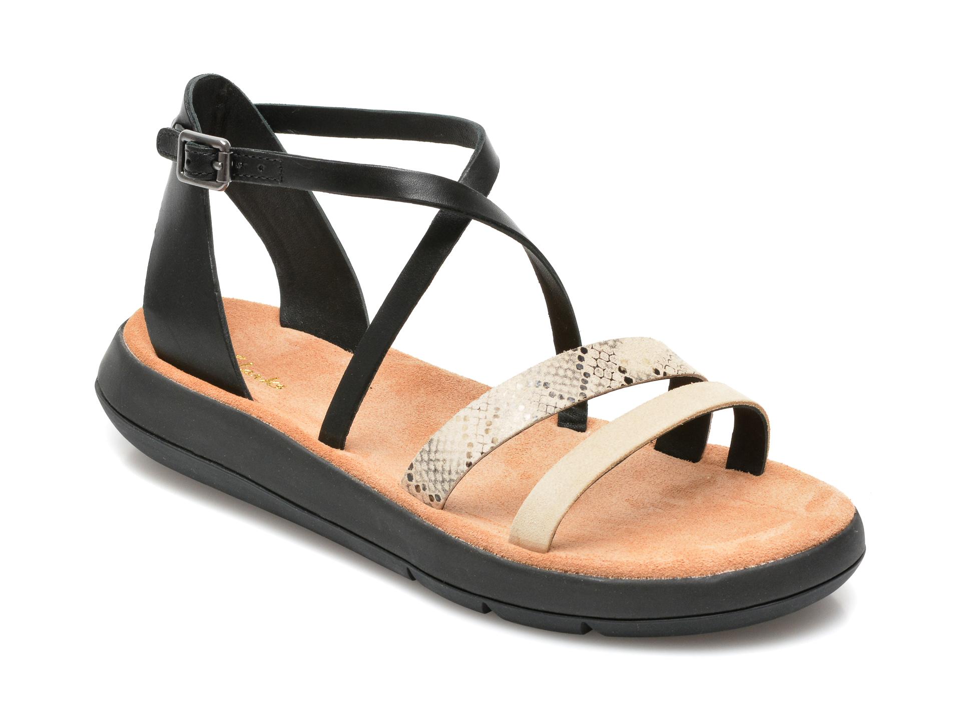 Sandale CLARKS nude, Alice Greta, din piele naturala