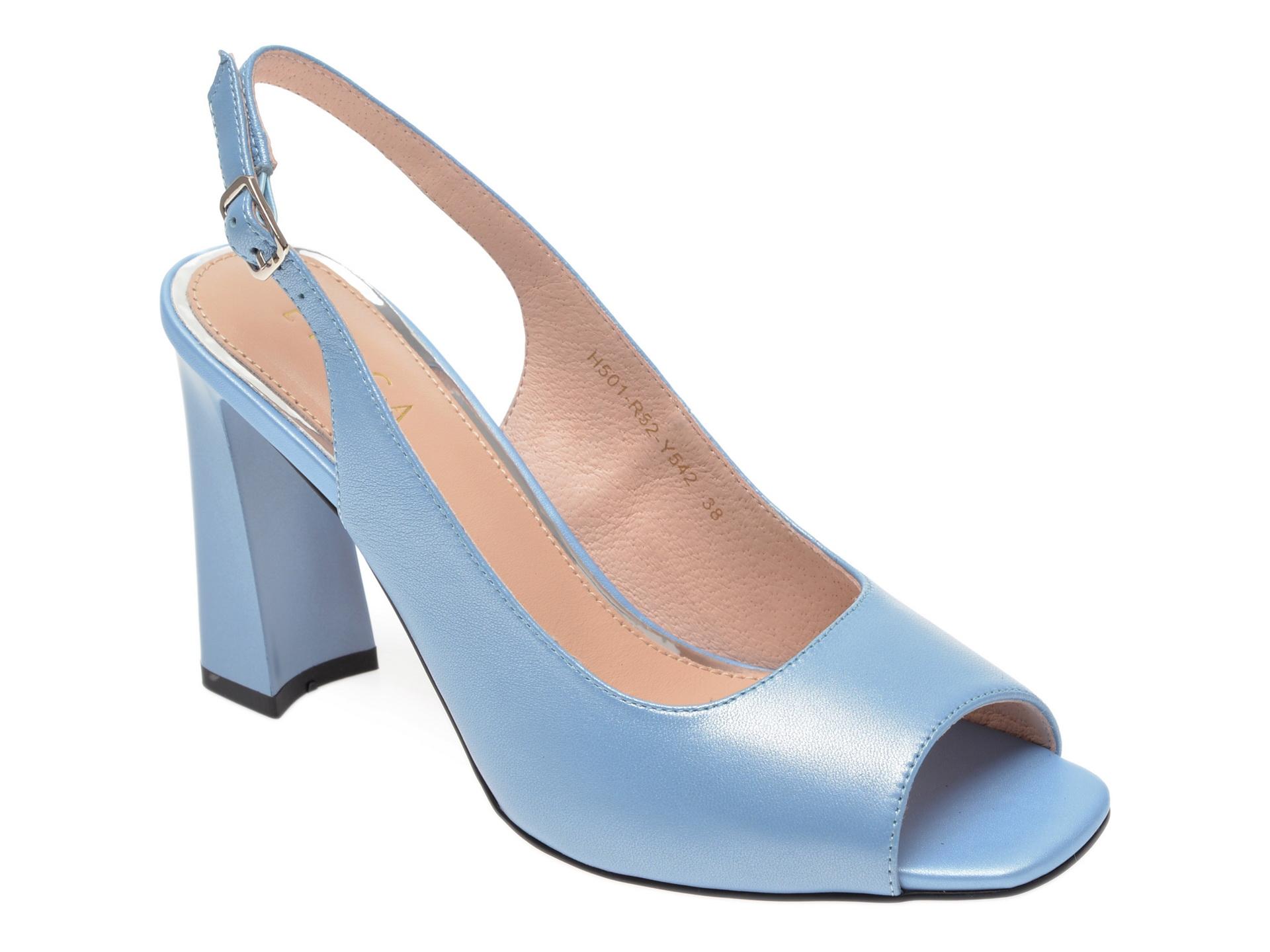 Sandale EPICA albastre, H501R52, din piele naturala