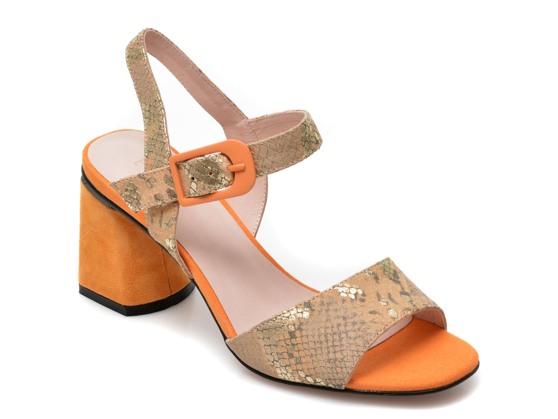 Sandale EPICA galbene, G1380HR, din piele naturala