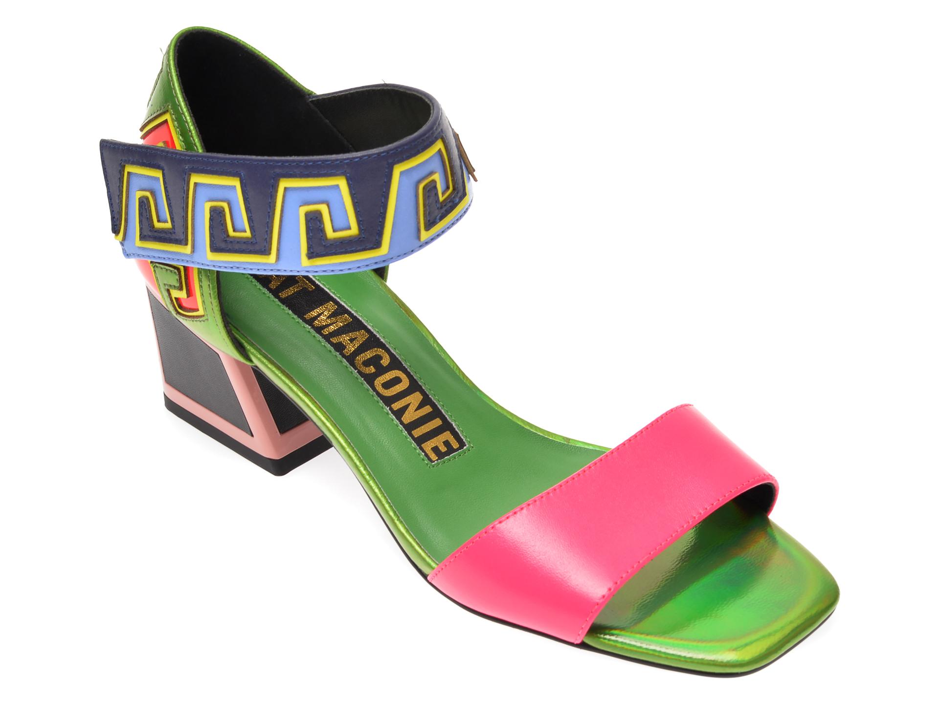 Sandale KAT MACONIE multicolor, DYLANA, din piele naturala