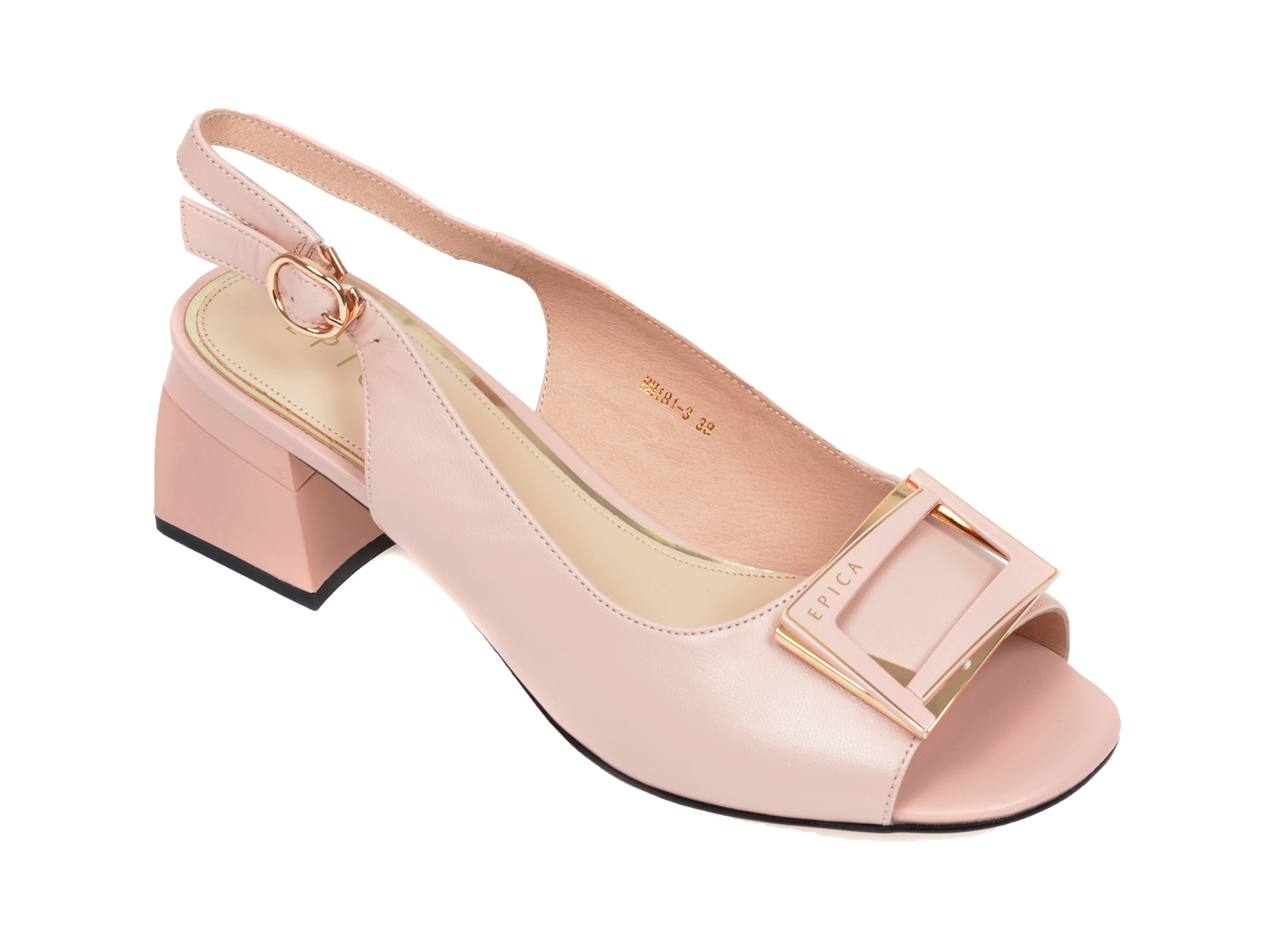 Sandale EPICA nude, BH181, din piele naturala