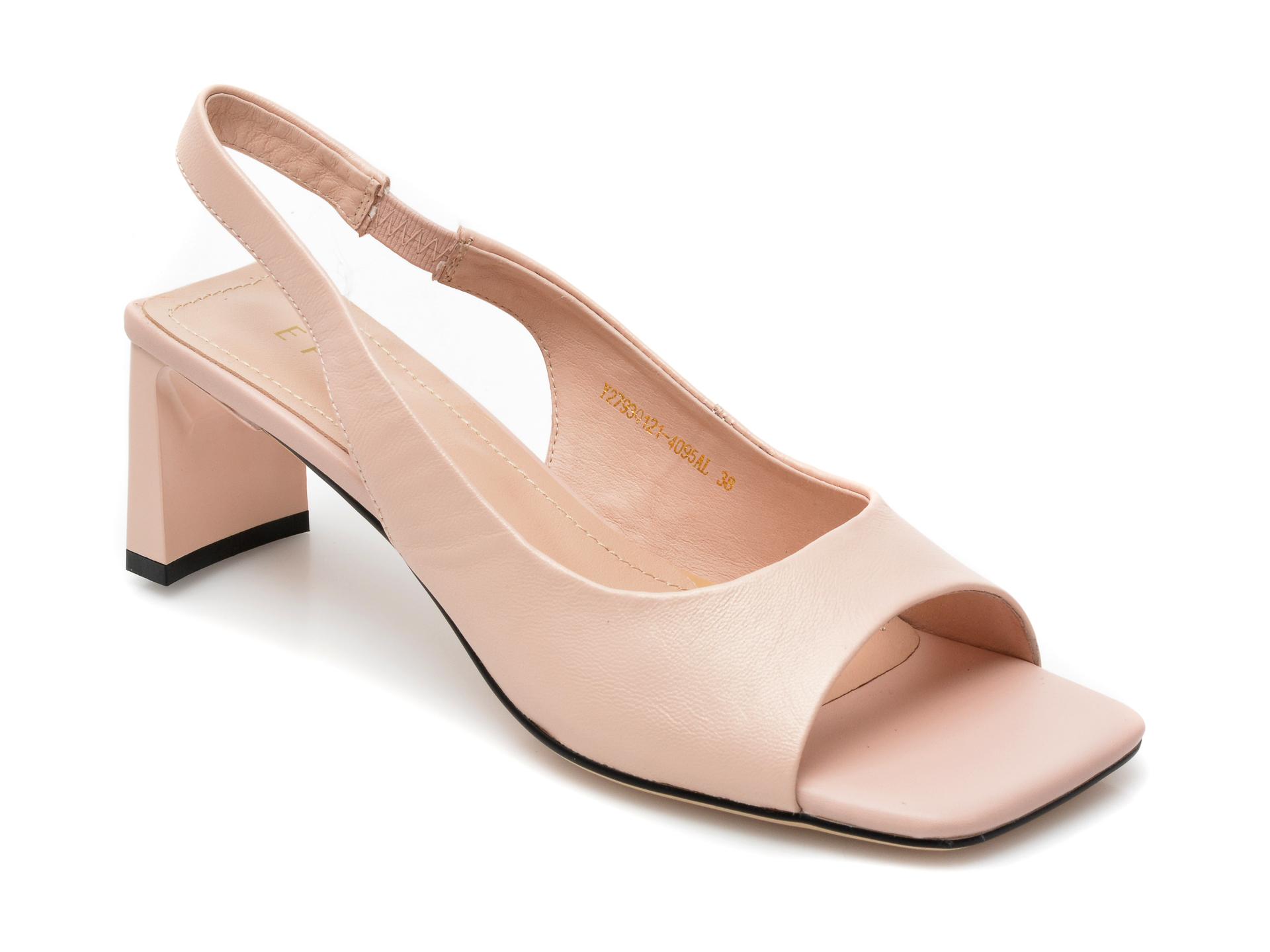 Sandale EPICA nude, Y2793Q1, din piele naturala