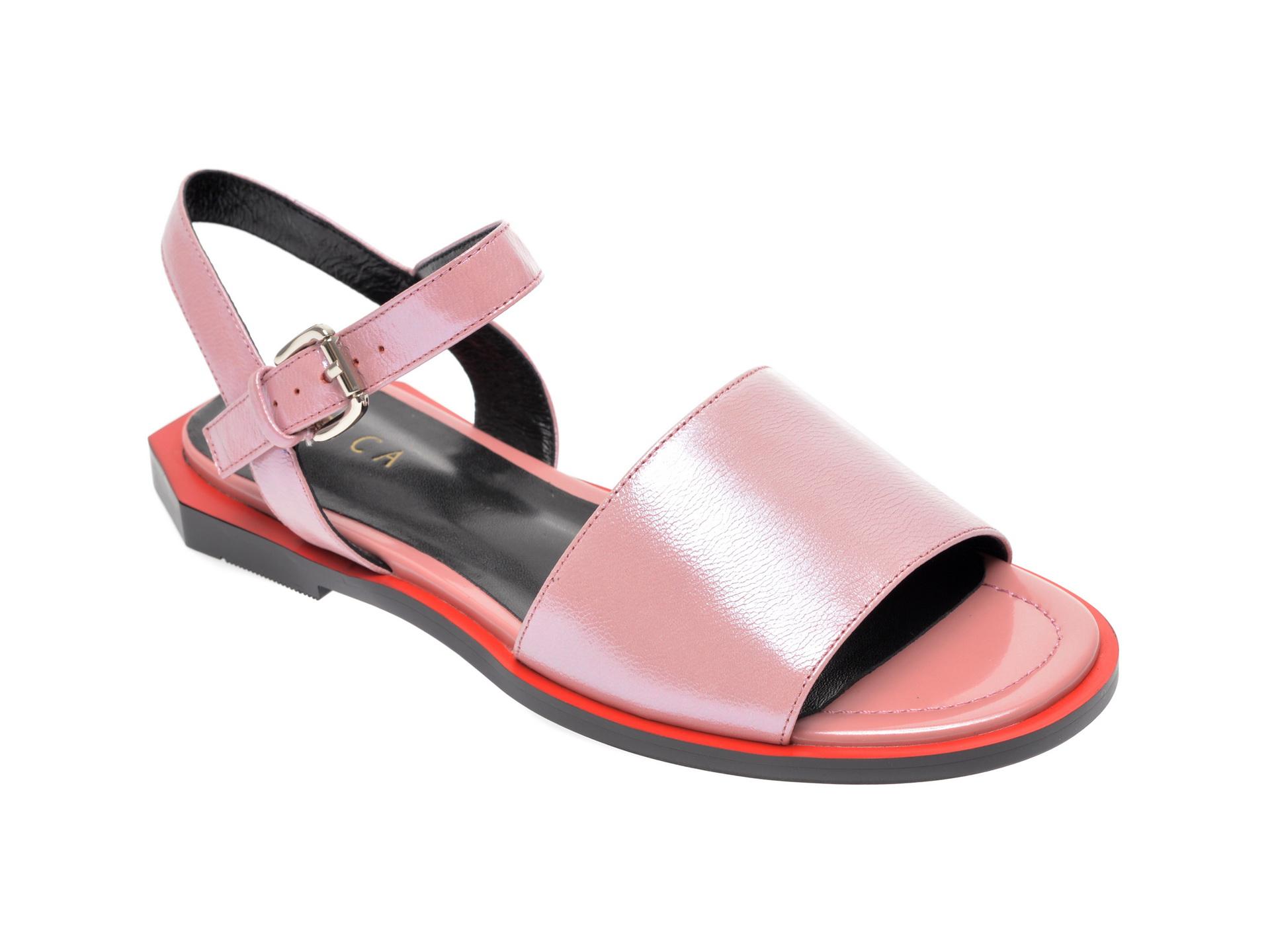 Sandale Epica Roz, 18j4000, Din Piele Naturala