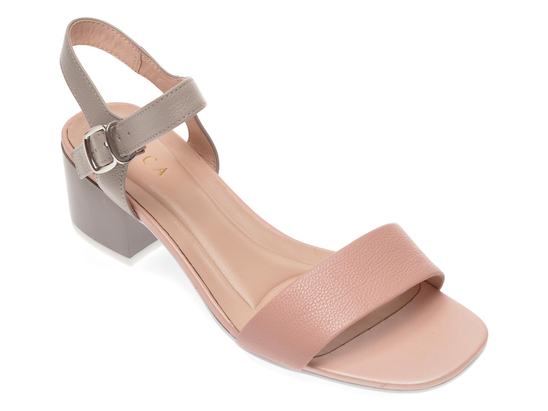 Sandale EPICA roz, CL035A6, din piele naturala imagine