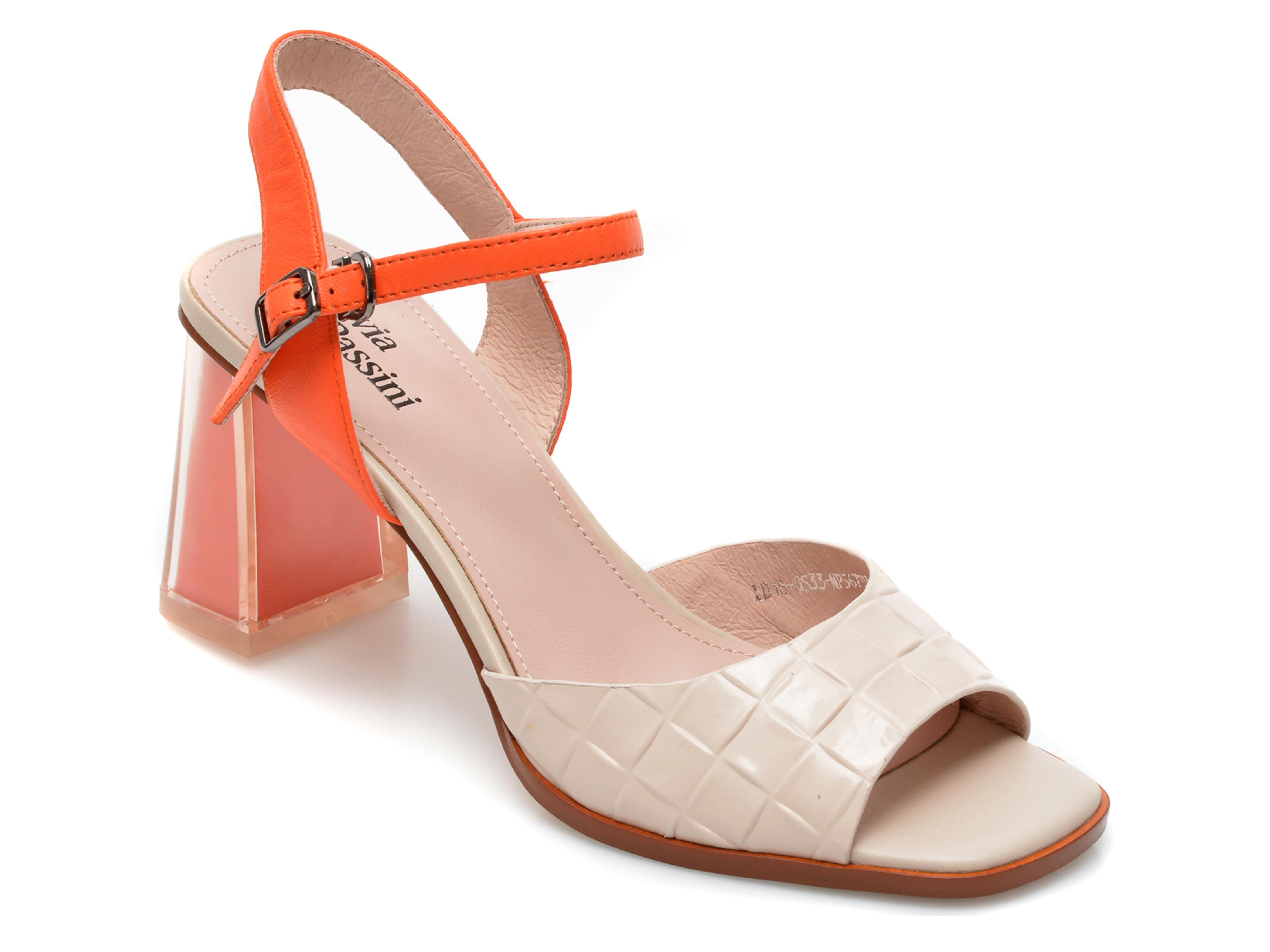 Sandale FLAVIA PASSINI bej, LD18GS3, din piele naturala