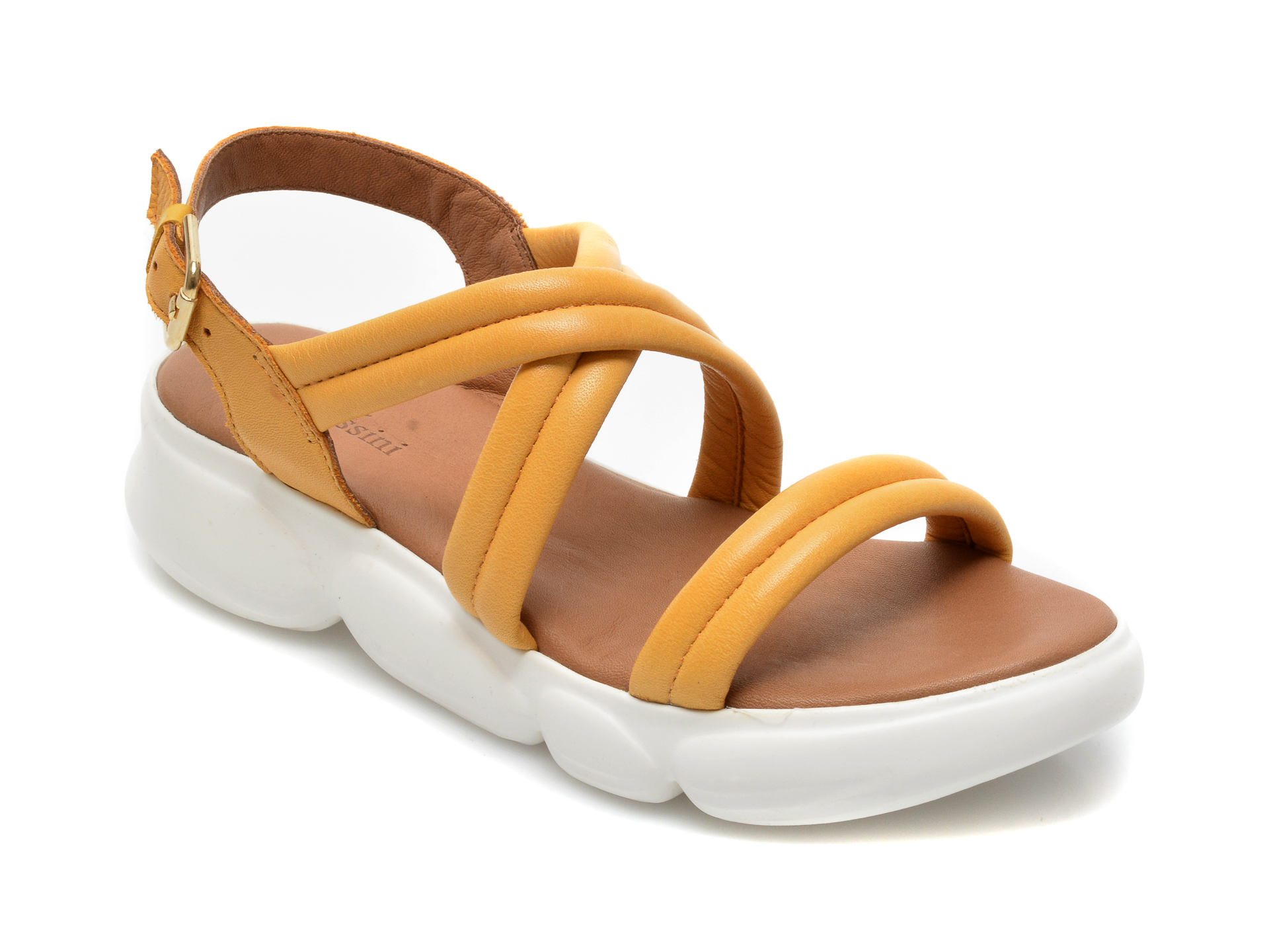 Sandale FLAVIA PASSINI galbene, MS1083, din piele naturala