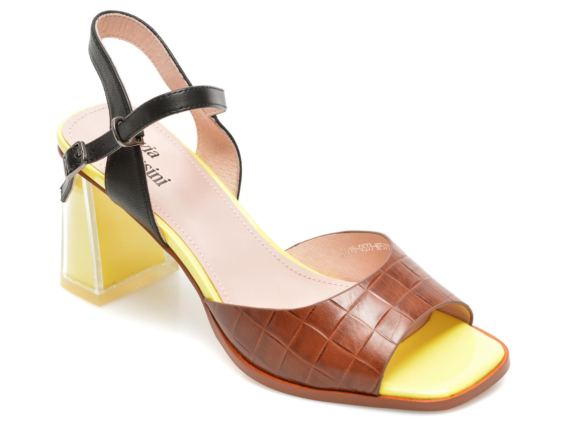 Sandale FLAVIA PASSINI maro, LD18GS3, din piele naturala