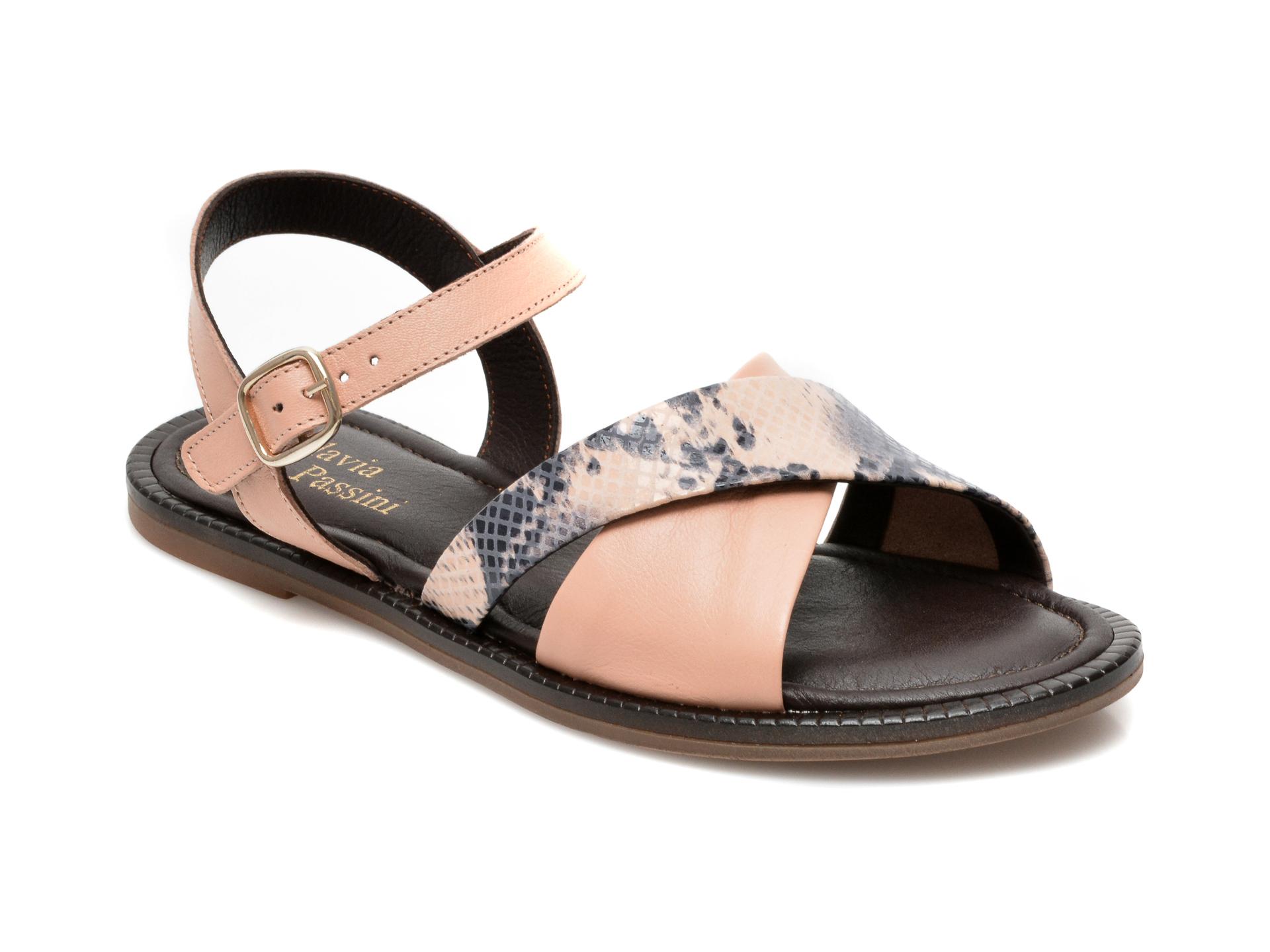 Sandale FLAVIA PASSINI nude, 057JURD, din piele naturala