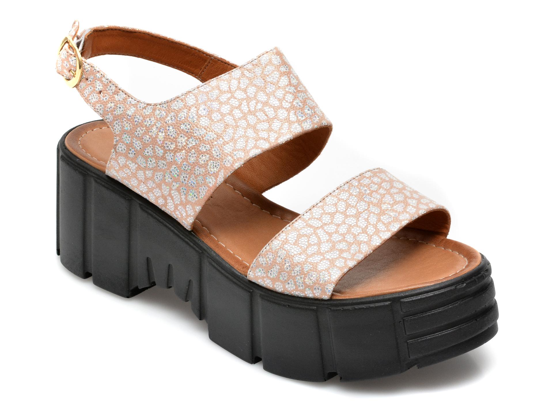 Sandale FLAVIA PASSINI gri, 2252VP, din piele naturala