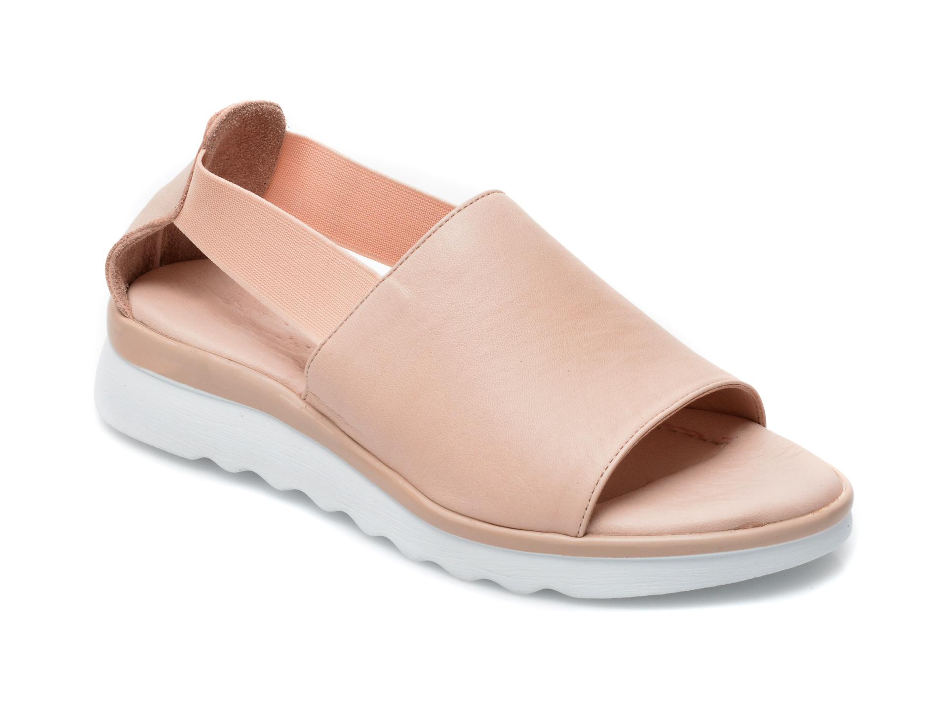 Sandale FLAVIA PASSINI nude, EI24501, din piele naturala