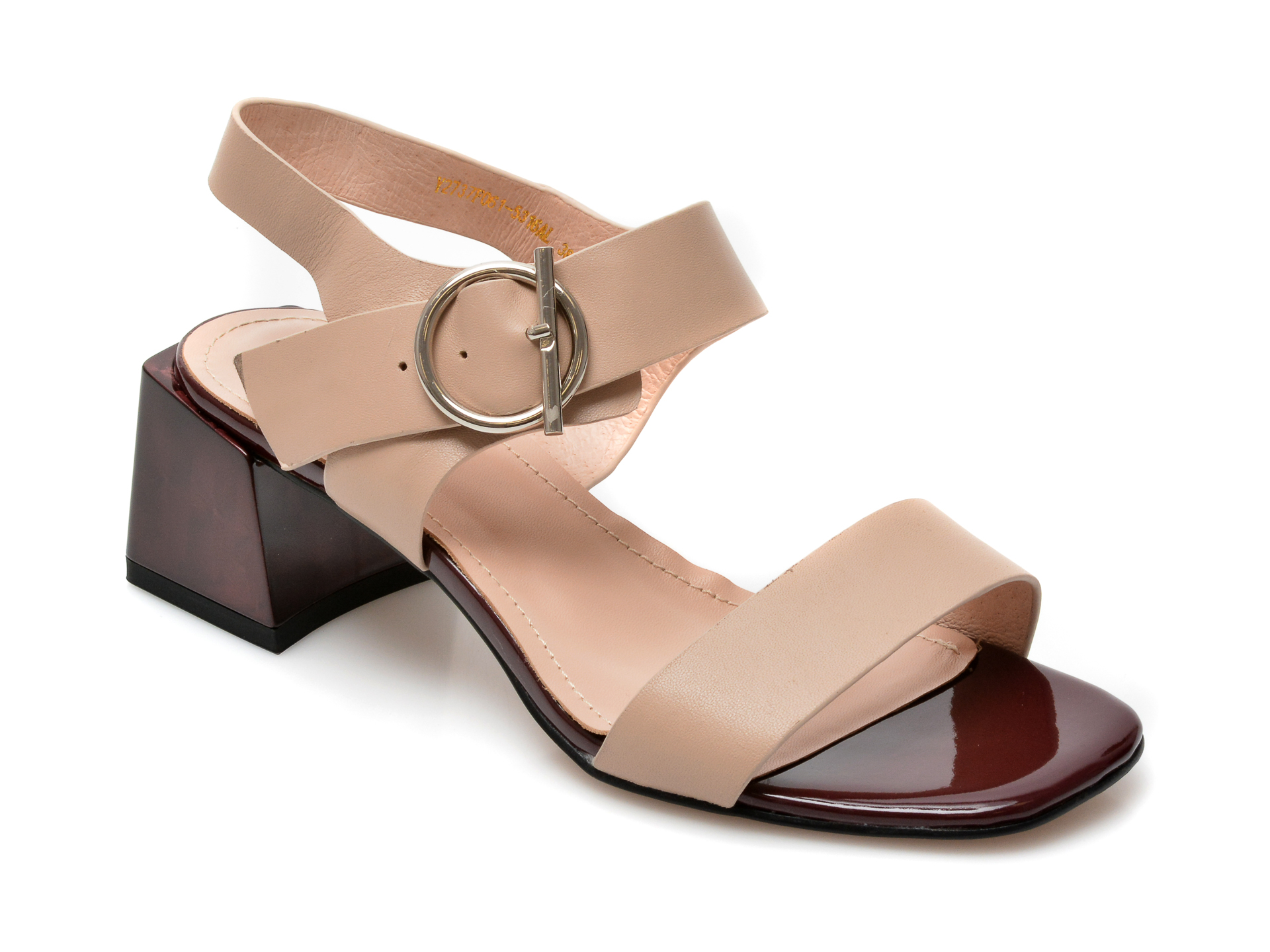 Sandale FLAVIA PASSINI nude, Y2737F0, din piele naturala