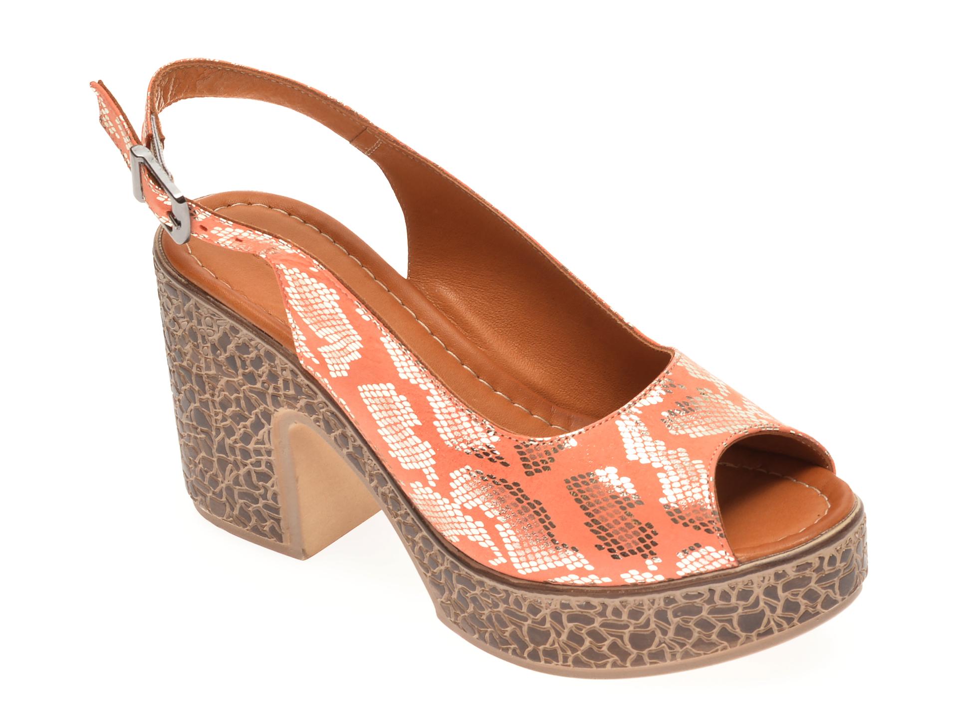 Sandale FLAVIA PASSINI portocalii, 1181735, din piele naturala