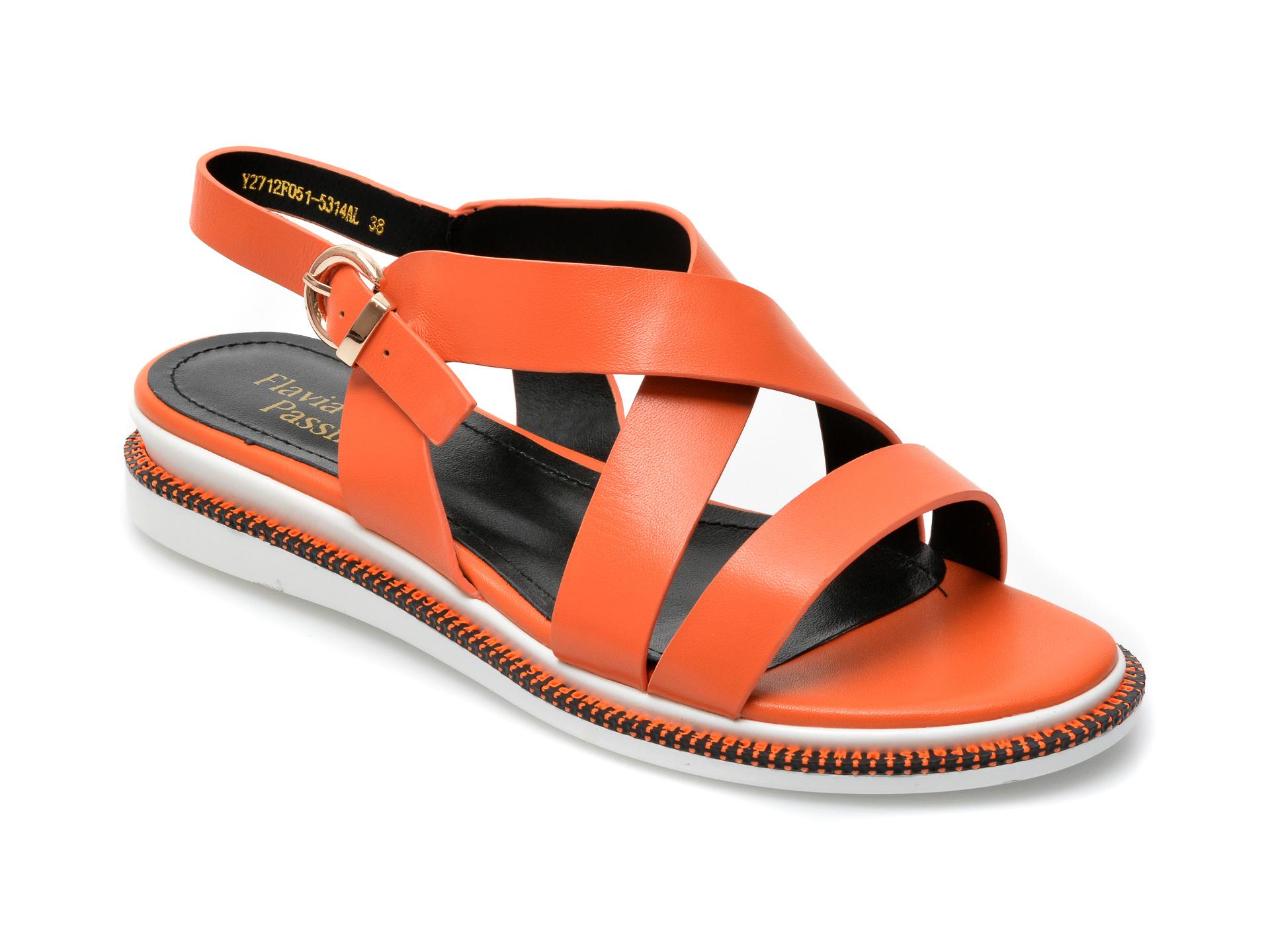 Sandale FLAVIA PASSINI portocalii, Y2712F0, din piele naturala