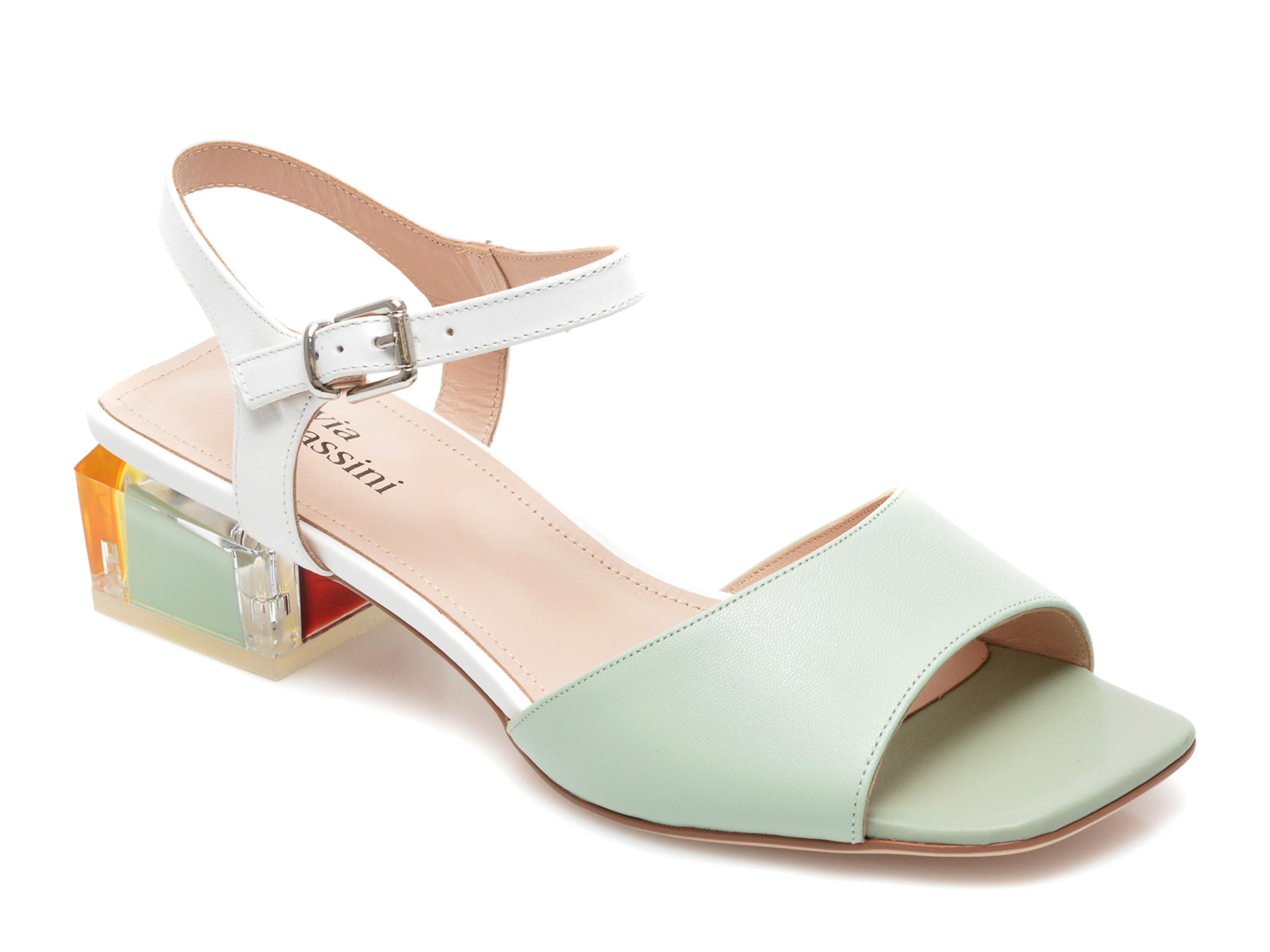 Sandale FLAVIA PASSINI verzi, H6736, din piele naturala