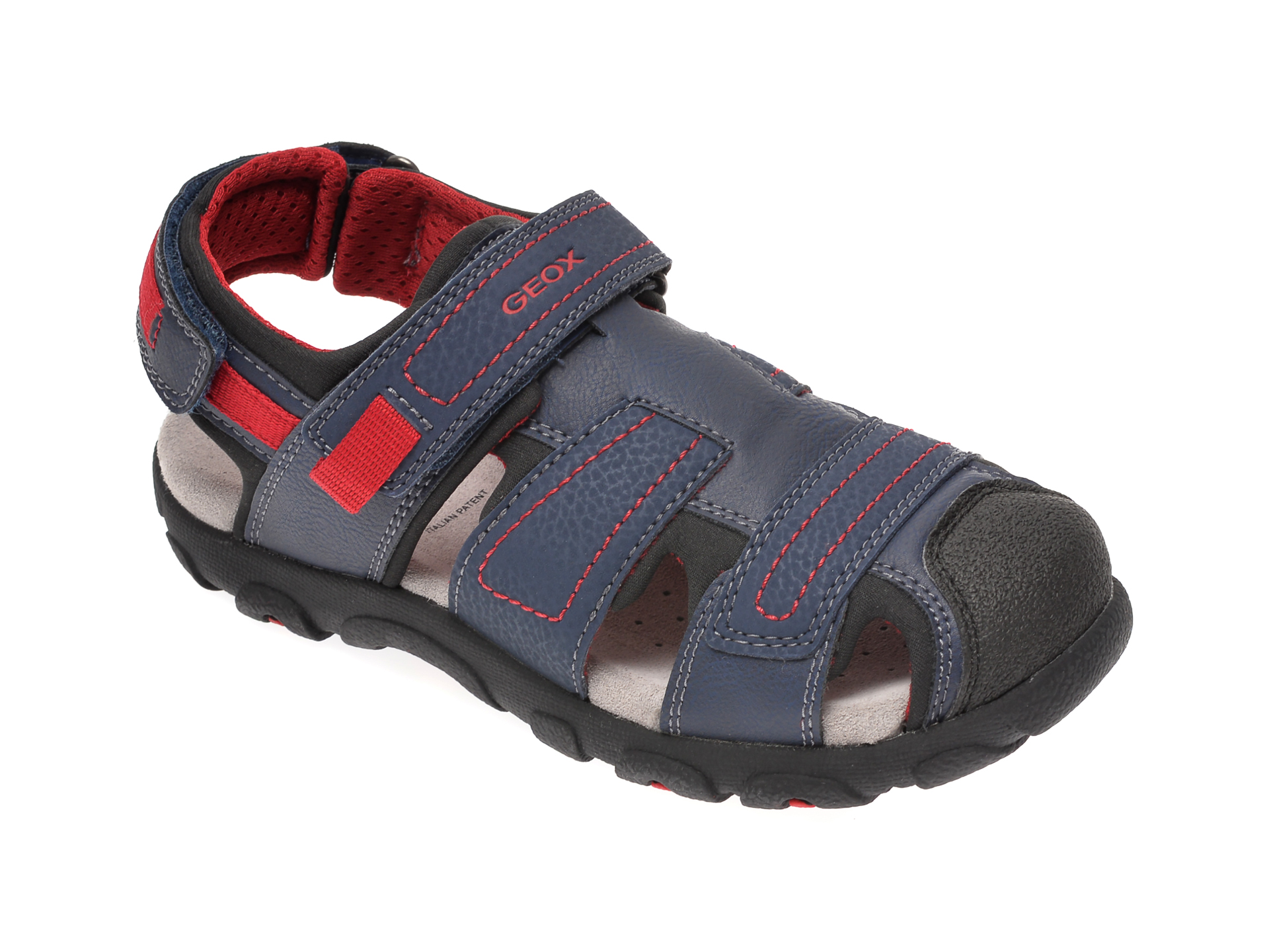 Sandale Geox Bleumarin, J0224d, Din Piele Ecologica
