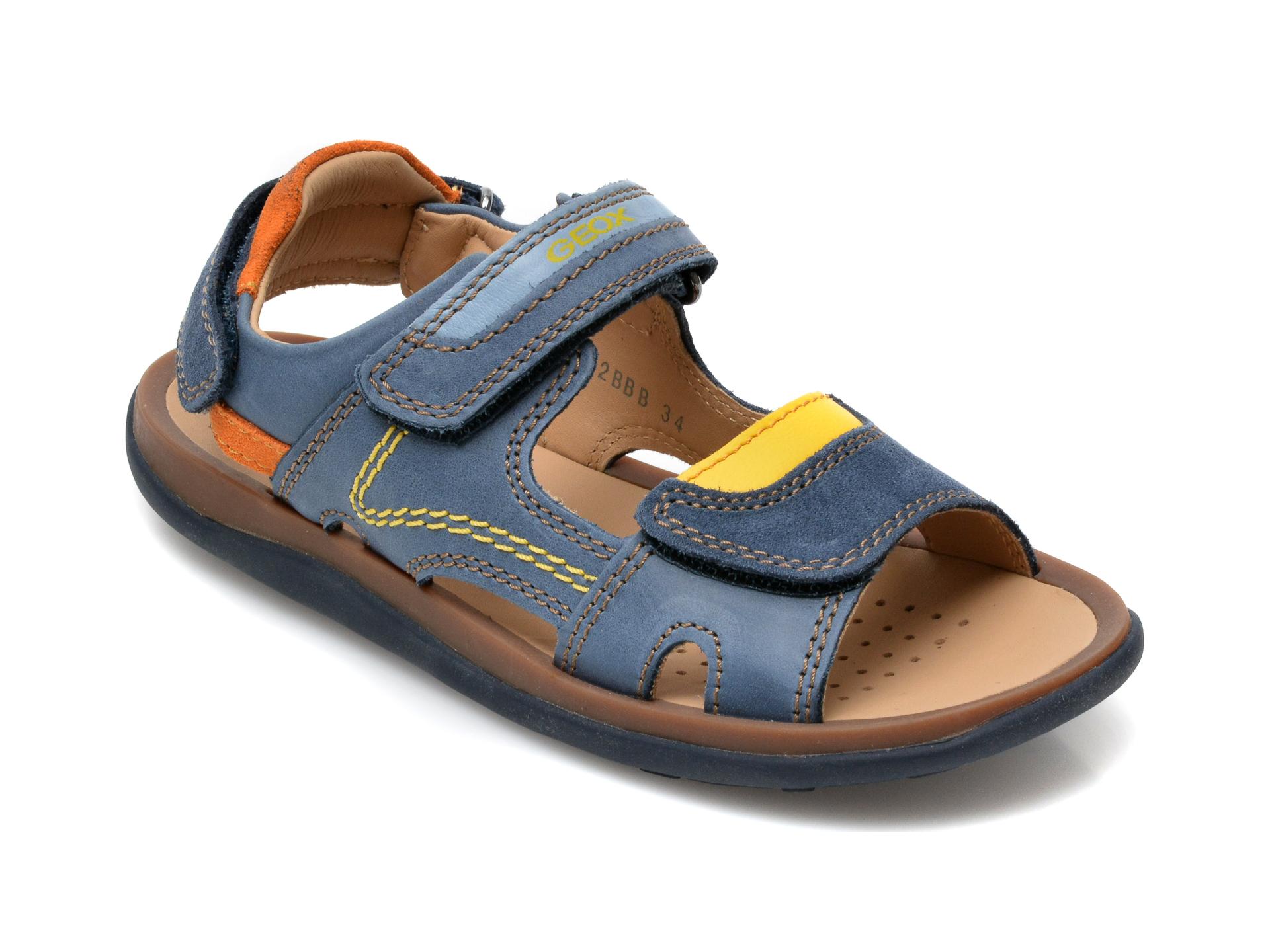 Sandale GEOX bleumarin, J02BBB, din piele naturala