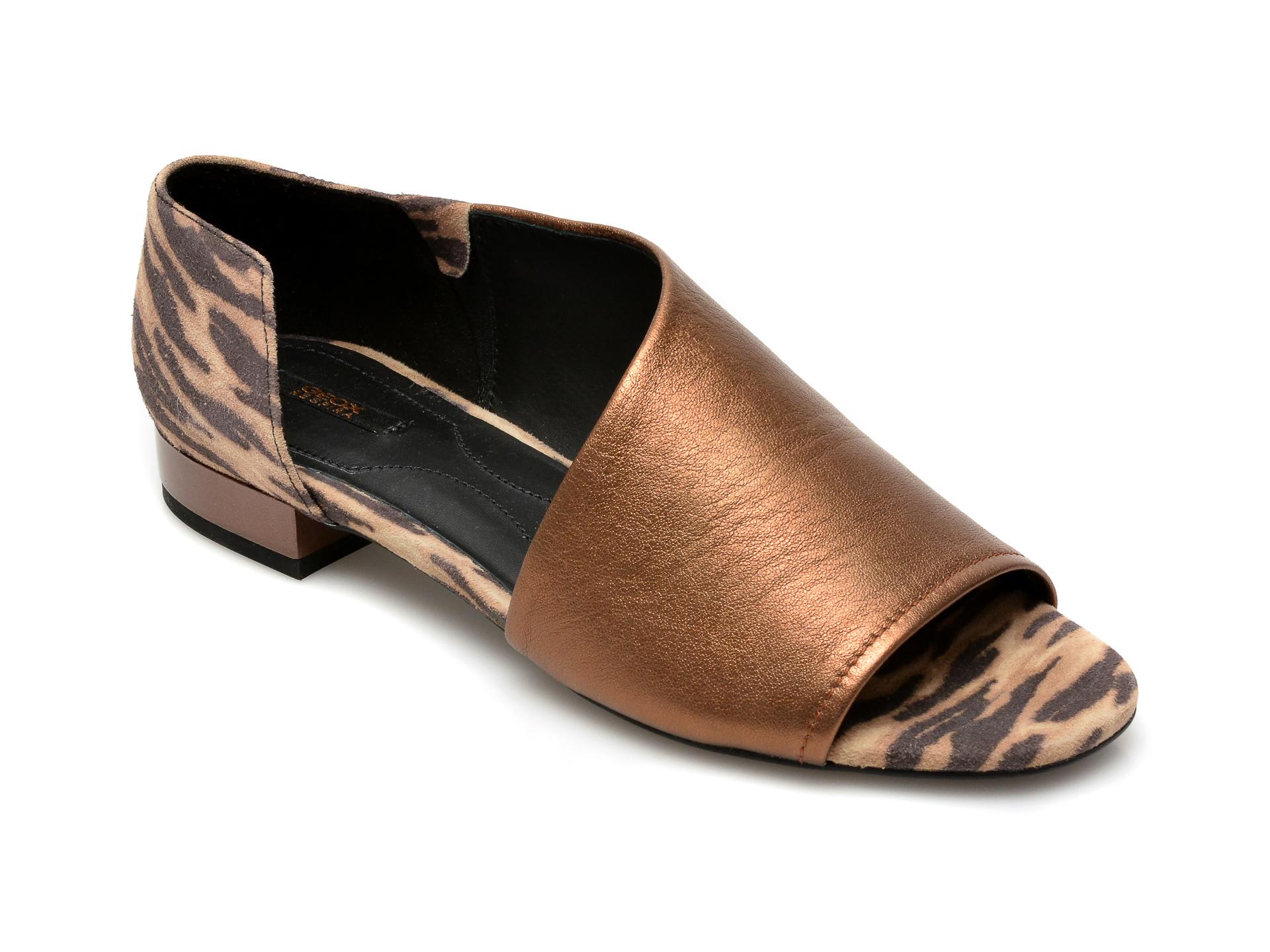 Sandale GEOX maro, D724HA, din piele naturala