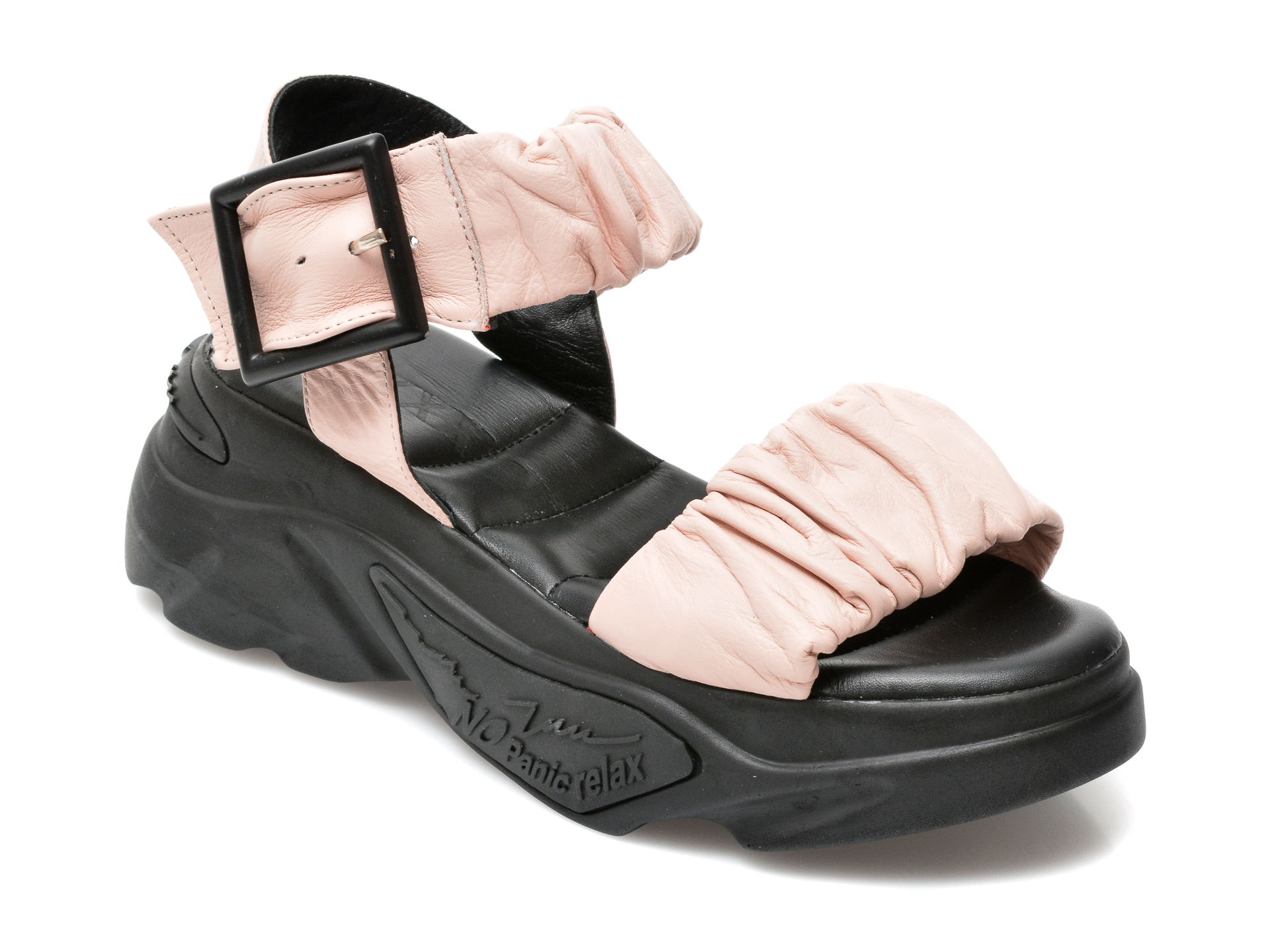 Sandale GRYXX nude, 180G32, din piele naturala