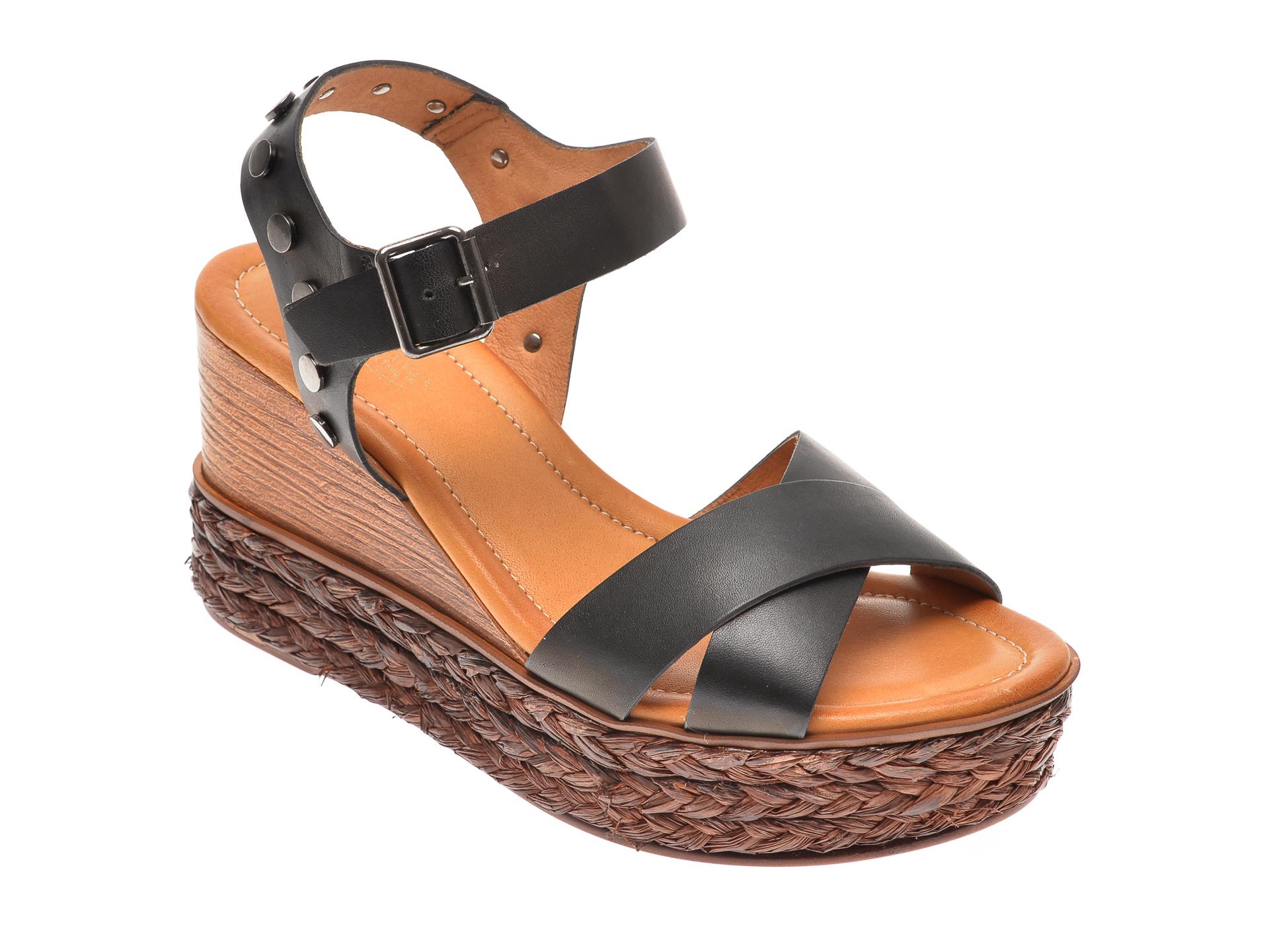 Sandale Image Negre, 4147, Din Piele Naturala
