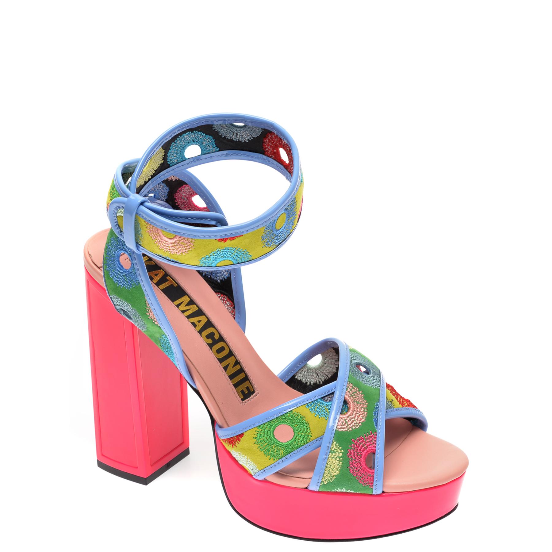 Sandale KAT MACONIE multicolor, CHARLIE, din piele naturala