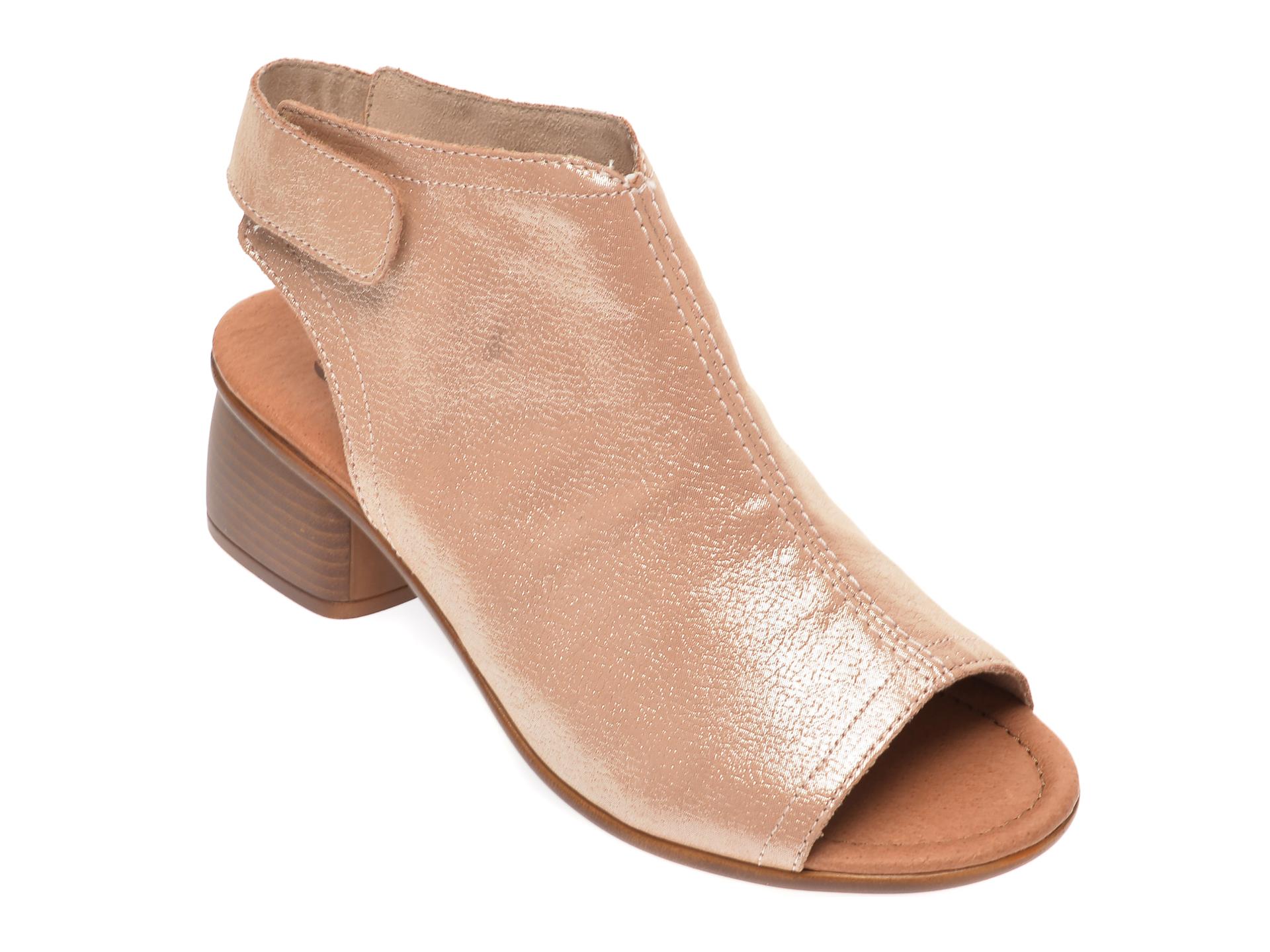 Sandale REMONTE aurii, R8770, din piele naturala