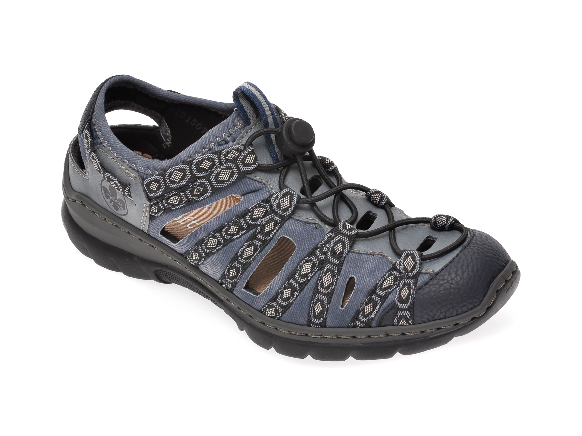 Sandale RIEKER bleumarin, L32P8, din material textil