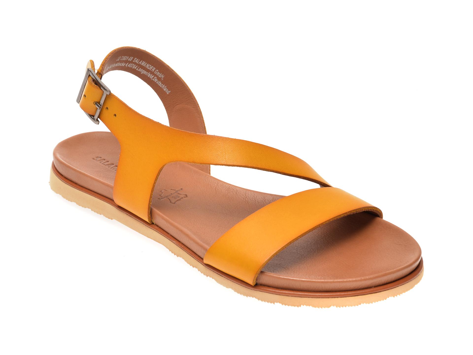 Sandale SALAMANDER galbene, 15019, din piele naturala imagine