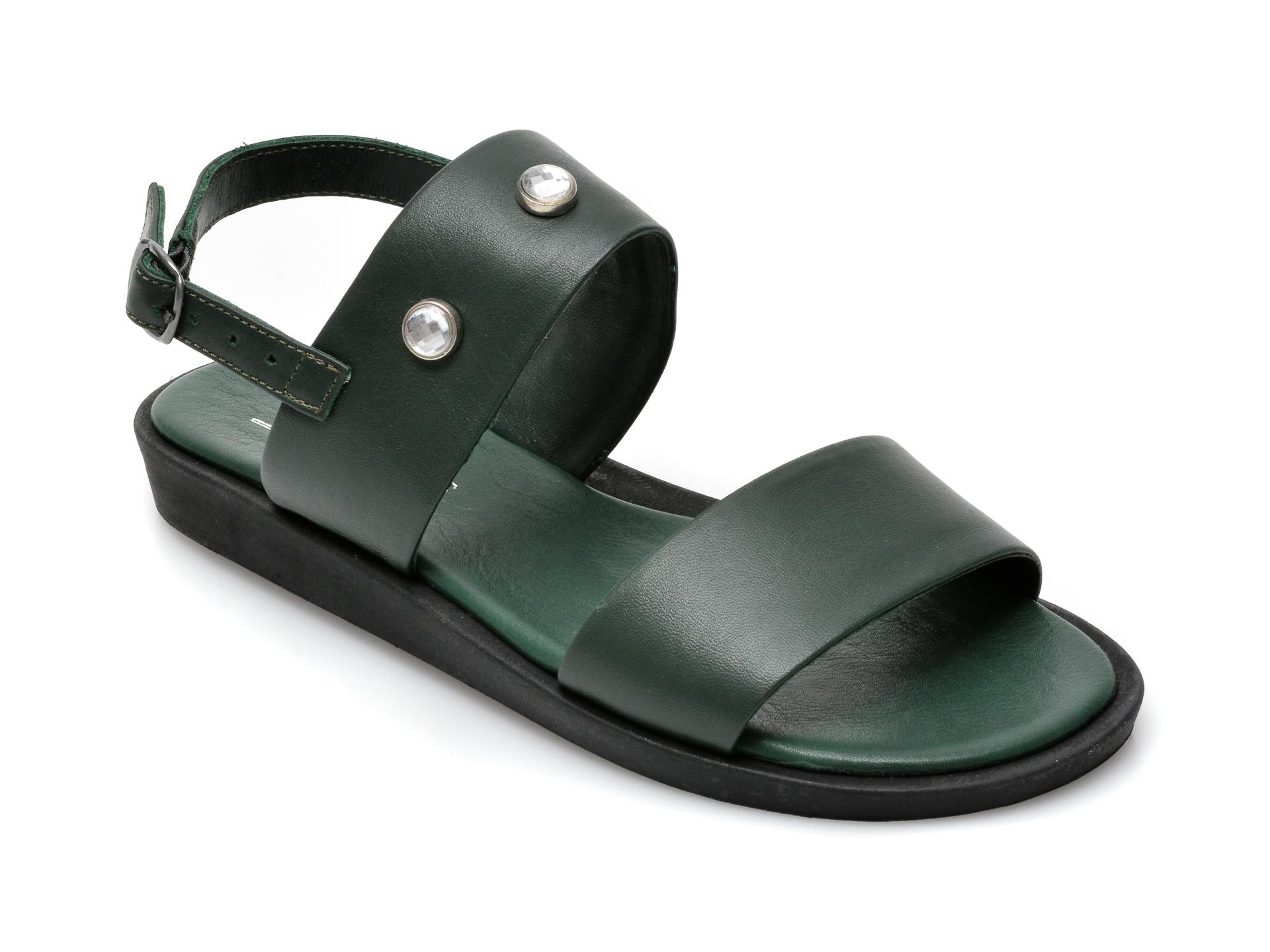 Sandale SCARPEDIEM verzi, 2526SH, din piele naturala