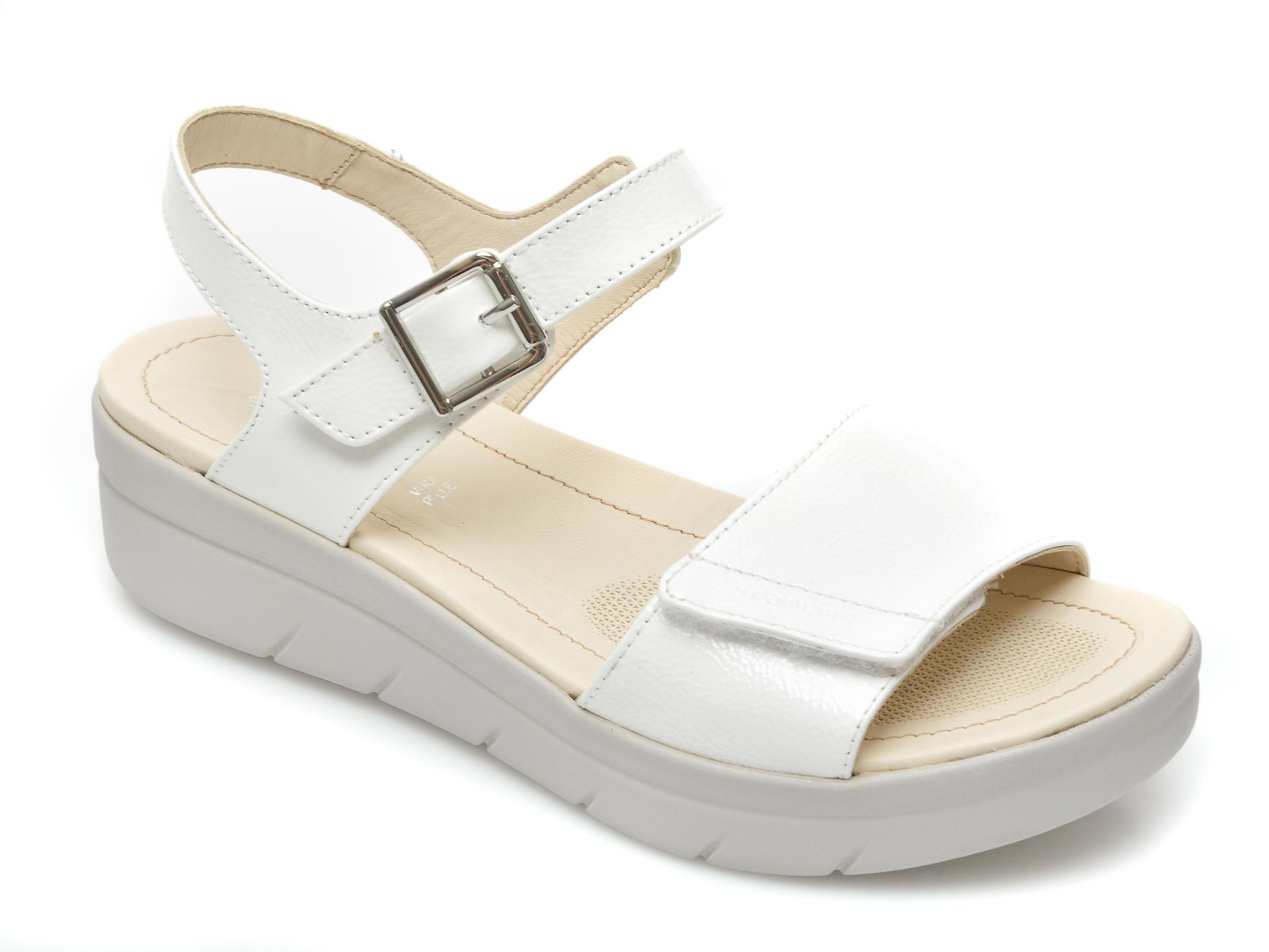 Sandale STONEFLY albe, Aquii2, din piele naturala